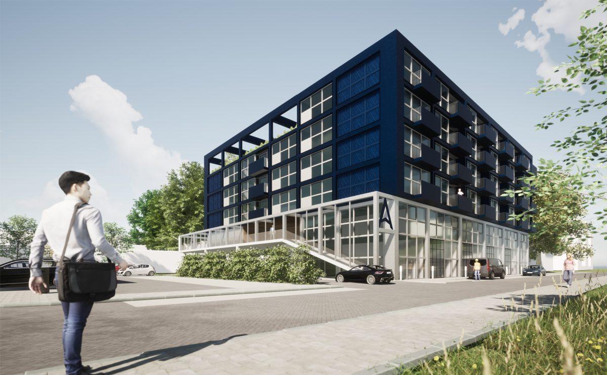 Neptunusweg 4 Delft, Röntgenweg 4 Delft, De Blauwe Hamer, appartementen, wonen, werken